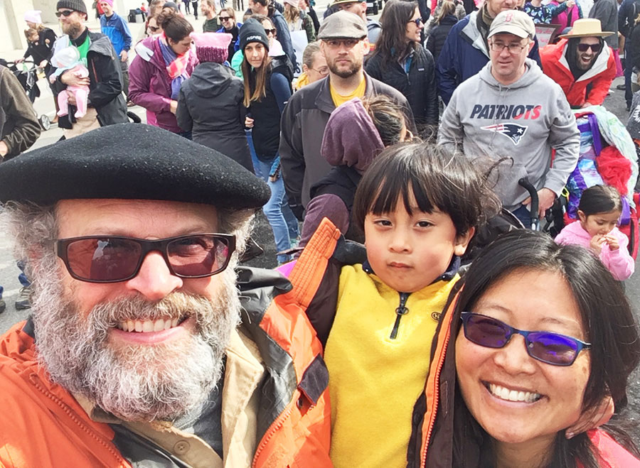 KarenWong&Family-WomensMarch-web
